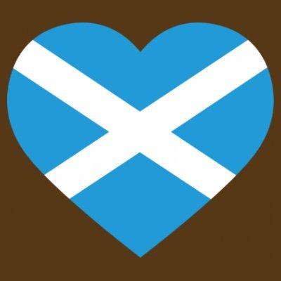 Sudadera con capucha de mujer Scotland Heart Flag by Shirtcity Marrón