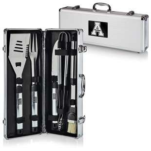 NCAA Appalachian State Mountaineers Fiero 5-Piece BBQ Tool Set With Case