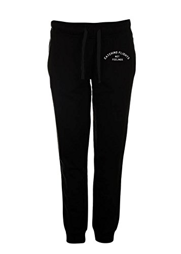 Dimepiecela Embroidered Black Catching Flights Not Feelings Joggers Womens Christmas Gift … (Medium/Large) - Dimepiece Clothing