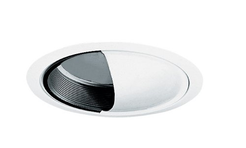 Juno Lighting 261B-WH 6-Inch Wall Wash Scoop, Black Baffle with White (Alzak Wall Wash)