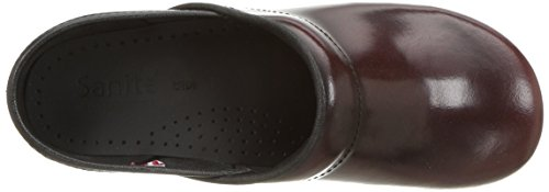 Sanita Womens Original Cabrio Pro Wide Clog Bordeaux