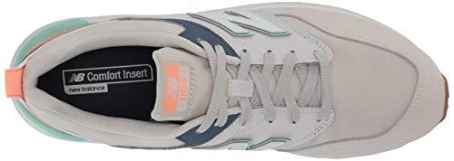 New Balance Women's 009 V1 Sneaker, Moonbeam/Vintage Indigo/Neo Mint, 5 M US