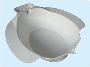Sitzbad Bidet Sitzbadewanne Toiletteneinsatz aus Kunststoff und mit Seifenablage , Farbe: weiß TOP-QUALITÄT