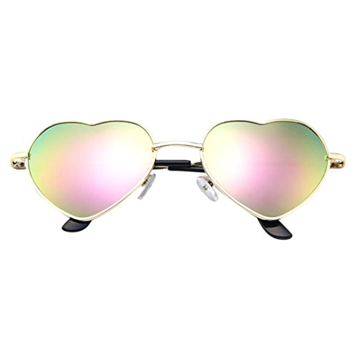 Limsea Hotr Sale! Mens Womens Metal Frame Ladies Heart Shape Sunglasses Lolita Love