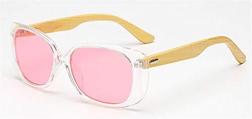 Gafas Sol de de Gafas Hombre UV400 Gafas Madera para E diseñador B de KP Mujeres Gafas de Piernas del Madera de de Moda la Cuadrado Las W1533 KOMNY Sol AqdTtExE