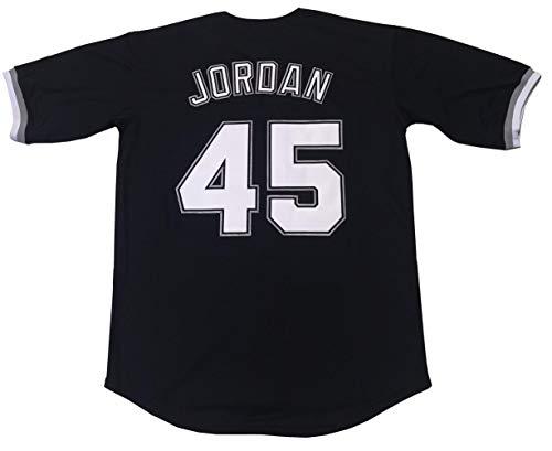 Kooy Jordan #45 Birmingham Barons Baseball Men Jersey Stitched (Black, Large) ()