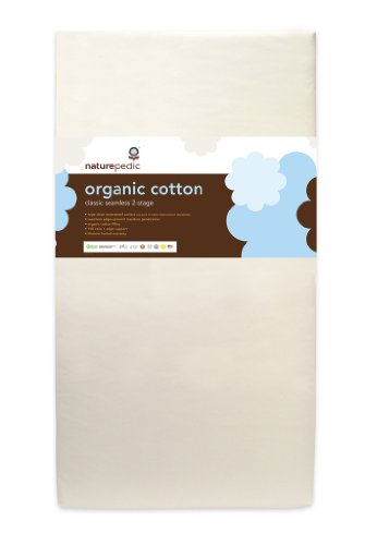 Naturepedic Organic Cotton Classic 150 Coil Seamless 2-Stage Crib/Toddler Mattress