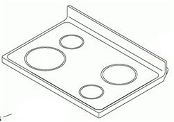 Whirlpool W10248203 Cooktop for Range