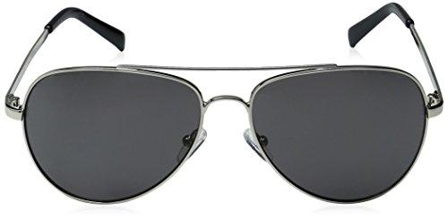 adult Light Silver R159s Calvin Sunglasses Aviator Shiny Klein Unisex TCE4q