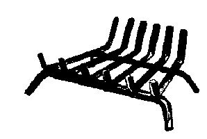 Lynx Fireplace Grate Steel 1 '' X 1/2 '' W, 18 '' Front, 15 '' Back Painted Black 6 Hex Bars by Lynx