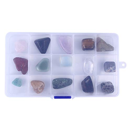 Clearance! DDLmax 15 Different Crystal Rough Stone Mineral Specimens Large Crystal Decoration