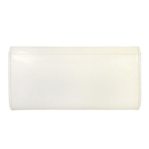 JNB Women's Candy Leather Cream Clutch Patent TTFrdx0