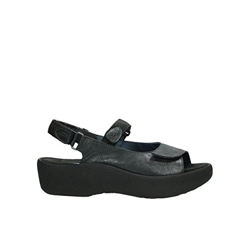 Wolky Womens 3204 Jewel Leather Sandals 821 anthracite leather