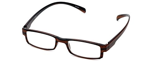 (Calabria 762 Neck Hanging Reading Glasses in Wood Stripe +1.25)