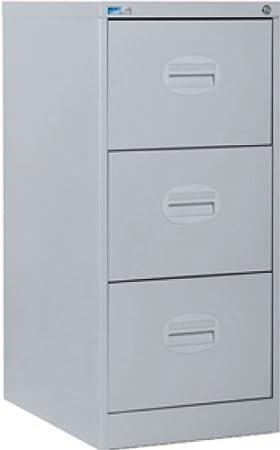 Silverline 3 Drawer Kontrax Filing Cabinet - Light Grey: Amazon.co ...