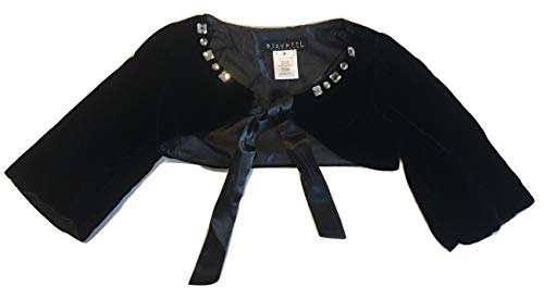 - Biscotti Kate Mack Girls Embellished Front Tie Shrug Bolero Black Size 5
