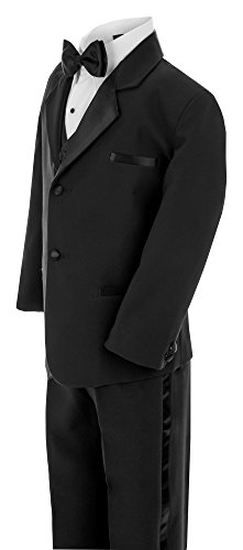 Gino Giovanni Little Boy's Usher Tuxedo Suit No Tail G210 (3T, Black) by Gino Giovanni (Image #1)