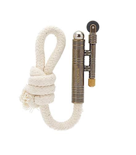 Vintage Lighter Retro Trench Rattlesnake Rope Velvet Metal Lighter Fire Starter Camping Outdoors,No Need for Kerosene/Gas,#3