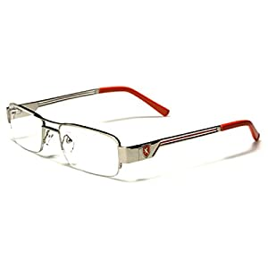 Semi-Rimless Rectangle Reading Glasses