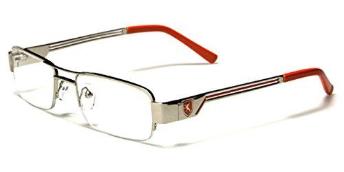 Semi-Rimless Rectangle Reading Glasses