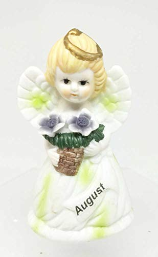 Home For ALL The Holidays Ceramic Birthday Angel Figurine 3.5 inches (August)