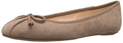 Nine West Women's Batoka Suede Ballet Flat, Dark Natural/Dark Natural Suede, 7 M US (West For Nine Flat Women Shoes)