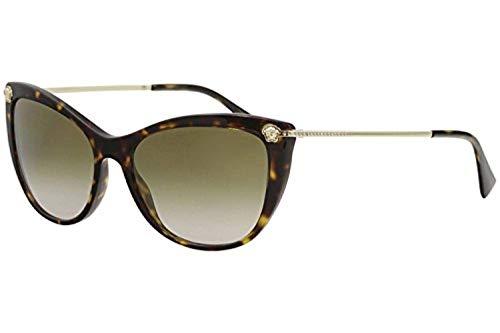 Versace Women's VE4345B Havana/Gradient Brown Mirror One ()