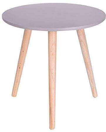 Holz Beistelltisch Grau 40x39 Cm Deko Tisch Klein Couchtisch