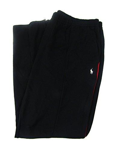 Polo Ralph Lauren Men's Big & Tall Double-Knit Track Pants (3LT, Black/Red) by Polo Ralph Lauren