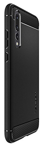 Spigen Rugged Armor HUAWEI P20 Pro Case with Flexible and Durable Shock Absorption with Carbon Fiber Design for HUAWEI P20 Pro (2018) - Black by Spigen (Image #4)