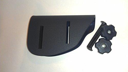 Adjustable Cheek Riser - Kydex Cheek Rest - .125' Matthew's Cheek Rest (Right - Black Oxide Bolts)