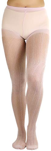 ToBeInStyle Women's Dazzling Crocheted Tights - Rose Gold - OS