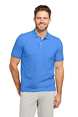 (Lands' End Men's Short Sleeve Comfort-First Mesh Polo Shirt Royal Blue)