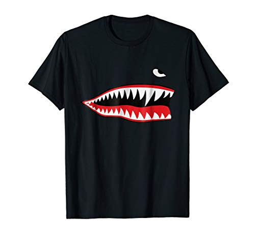 WWII P-40 Warhawk Flying Tiger Fighter Shark Nose T-Shirt