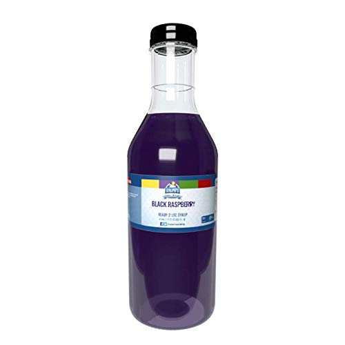 Ralph's Black Raspberry Snow Cone Syrup | 32oz | Made With Pure Cane Sugar
