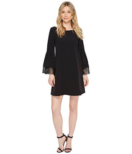 Laundry by Shelli Segal Women's Shift Dress with Lace Sleeve & Hem Detail Black 12