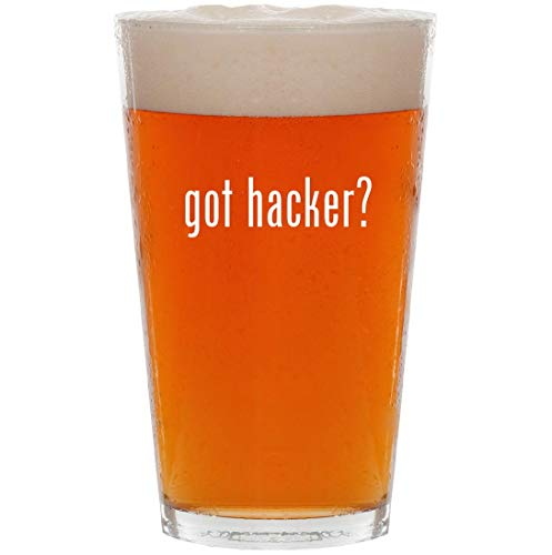 got hacker? - 16oz All Purpose Pint Beer Glass for sale  Delivered anywhere in USA