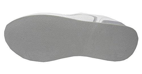 cerradas de de bolos táctiles y Dek bolos zapatillas ligeras de Zapatillas plana hombre blancas suela para con qTUU7fxw