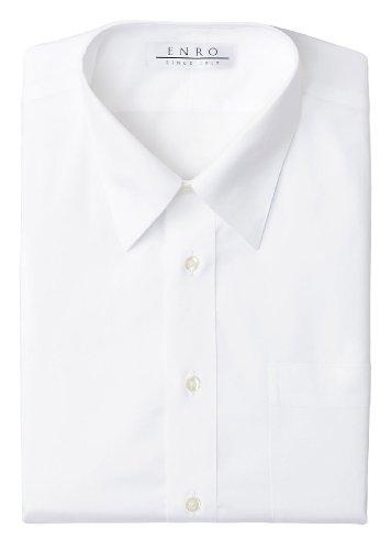 Enro Pinpoint - Enro Non-iron Perfect Pinpoint Dress Shirt (18.5 34/35, White)