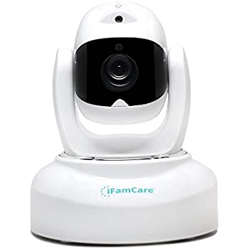 iFamCare Helmet: 1080P Full HD Wi-Fi Smart Digital Home Video Monitor for iPhone & Android with Air Sensor, Night Vision, Built-in Laser, White