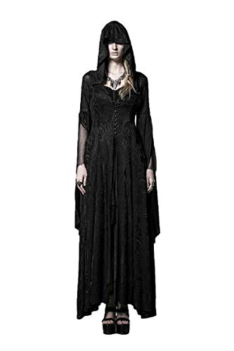 EMONJAY Women's Black Gothic Witch Costumes Priestess Cloak Halloween Cosplay (Vampire Fairy Dress)