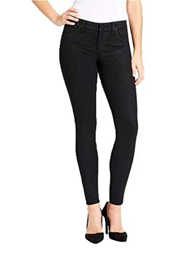 Jessica Simpson Ladies Coated Skinny Jean (6, Black)