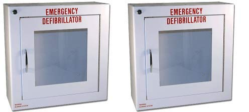 First Voice TS145SM-1 AED Basic Wall Standard Cabinet with Alarm, 13.5'' W x 13'' H x 5.25'' D (2-(Pack))