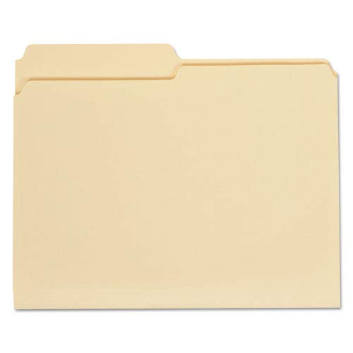 File Folders Manila One-Ply Top Tab Letter Straight Cut 100//Box