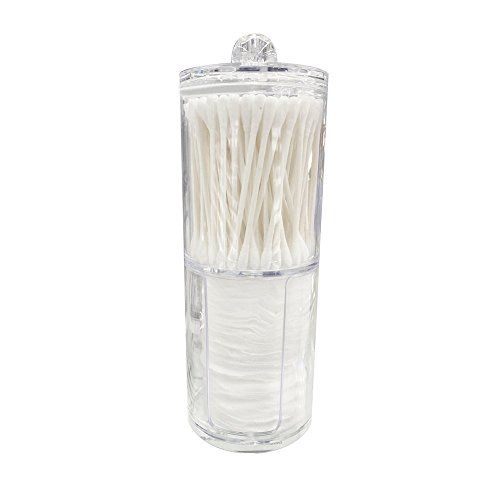 Storage Box Missyy Acrylic Cotton Swab & Pads Container Organizer For Your Makeup & Stoarge Needs