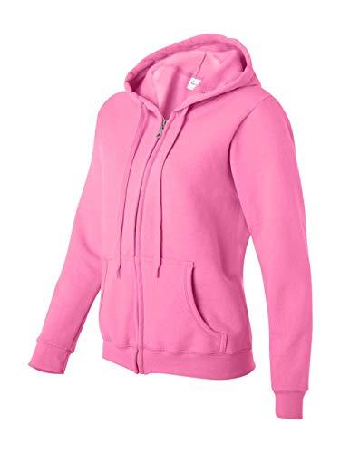 Gildan Womens 8 oz Heavy Blend 50/50 Full-Zip Hood (G186FL) -AZALEA -S