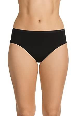 Berlei Women's Underwear Microfibre Nothing Micro Hi-Cut Brief, Black, 10