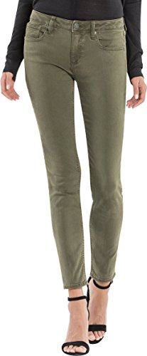 Miss Me Women's Basic Colored Skinny Denim Jean, Olive Green, 26 (Miss Me Colored Jeans)