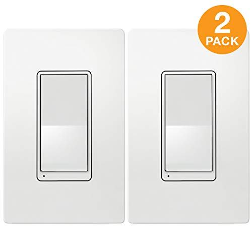 - TOPGREENER Add-On Switch for TGWF500D Wi-Fi Dimmer (cannot be used as a standalone switch, requires TGWF500D to work), Auxiliary Switch to create 3-Way Connection, In-Wall Installation, TGWF3K, 2-Pack