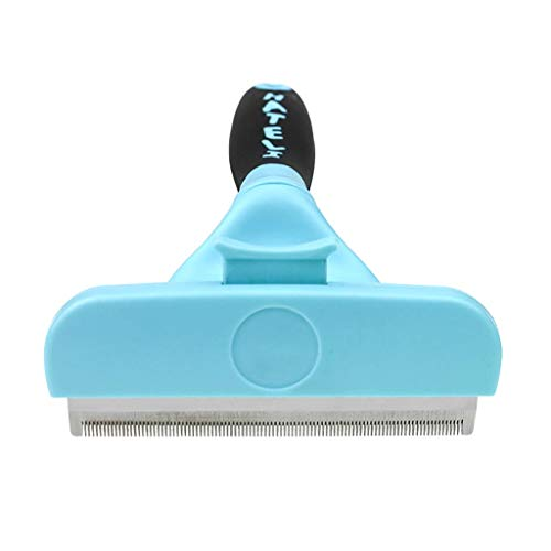 A-free Deshedding Brush Hair Shedding Tool for Dog & Cat – Large Pet Hair Removal Comb, Effective Grooming Tool for Cats…